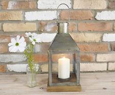 New Vintage Glass Garden Hurricane Large Lamp Lantern Pillar Candle Holder 39cm