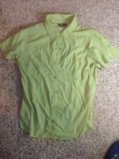 Royal Robbins Womens Medium Travel shirt Button Down Short Sleeve Green KED