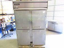 Continental 2R-Sa-Pt-Hd Stainless Steel Refrigerator 4 Door Pass Thru *Xlnt*