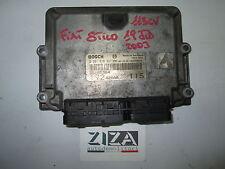 Centralina Motore ECU Bosch  Fiat Stilo 1.9 JTD 115 Cv 0281010337
