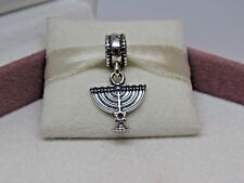 New w/Box RETIRED Pandora Menorah Jewish Hanukkah Dangle Charm #791362