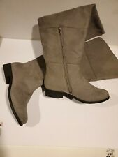 American Eagle Suede grey long Shoe Boot Size 9.5w