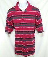 Nike Golf Polo Shirt Dri-Fit Mens Sz Large Multi-Color Striped Short Sleeve K1