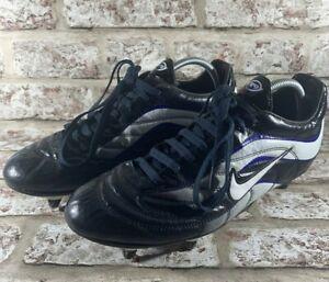 Nike Mercurial R9 Ronaldo Football Boots SG Studs Black White Blue UK 10