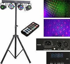 IBIZA Light DJLIGHT65 LED Laser Komplett Lichtanlage + Stativ + IR-Fernbedienung