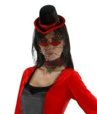 Vampiress Kit Hat w/Veil, Glasses and Collar New by Elope X1033