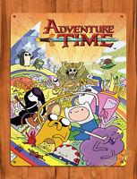 "Tin Sign ""Adventure Time"" Finn Cartoon Jake Wall Poster"