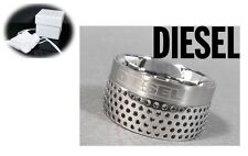 DIESEL SILVER POINTS STAINLESS STEEL RING DX0250 Sz. 8