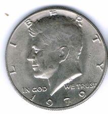 1979 Philadelphia Uncirculated Copper-Nickel Clad Copper Strike Half Dollar Coin