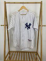 VTG New York Yankees Pinstripe #14 MLB Majestic Jersey Size 48 (M)