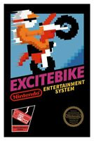 Excitebike Nintendo Nes Cleaned & Tested Cart Only Authentic