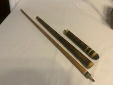 Vintage Ornately Orriental Carved 3 Piece Pool Cue Straight 20 Ounces 57 Inches