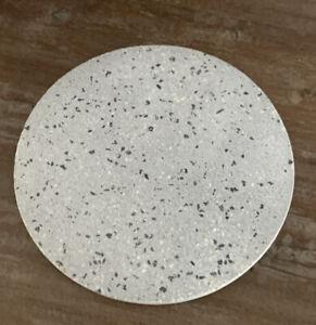 THIRSTYSTONE Gray Terrazzo Marble Round Trivet