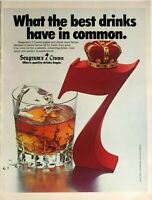 1978 Print Ad SEAGRAMS 7 CROWN Blended American 80 Proof Whiskey Smooth 7&7