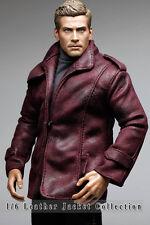 mc0385 Burgundy Smart Leather Jacket for 1/6 Figure (Jacket Only)