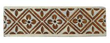 Printing Hand Carved Wooden Block Floral Pattern Blocks Textile Print Stamps