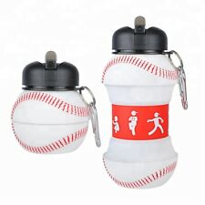 Silicone Water Bottle - Baseball Water Bottle - Foldable Outdoor/Indoor - 500ml