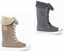 Chaussures gris Converse en cuir pour fille de 2 à 16 ans