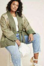 Women's Size 3X Anthropologie Quilted Patchwork Kimono Jacket $168