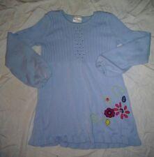 HANNA ANDERSSON VINTAGE GIRLS LT BLUE TUNIC 3 SEASON SWEATER SIZE 150 SUPER SOFT