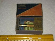 vintage shaving,safety razor,Segal flip top travel,with blades in original box
