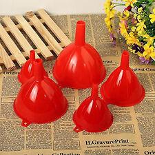 5 Große Trichter Set Einfülltrichter Fülltrichter Kunststoff Rot Zuhause Küche