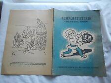 "RUMPLESTILTSKIN COLORING BOOK 1940's LILJA BOOK-14-3/4 "" X 10-1/2""-"