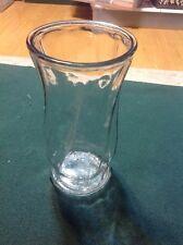 """Tall Clear Glass Swirls Vase - 9 5/8"""" Tall 5"""" Diameter"""