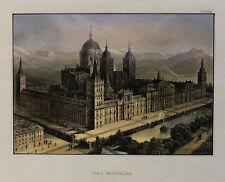Das ESCORIAL in Madrid Spanien Spain Espana ORIGINAL Stahlstich 1860 St Lawrence