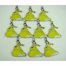 10 pcs Disney Princess Belle Bijoux Making metal figures Charms Pendants + cadeau
