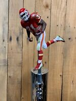 Kansas City Chiefs TAP HANDLE Beer Keg NFL FOOTBALL Priest Holmes Red Jersey