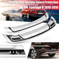 ABS Plastic Front Rear Bumper Board Guard Protector For KIA Sportage R 2010-2014