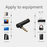 90 Degree Right Angled 3.5mm Male to Female Adapter Stereo Audio Microphone Jack
