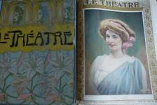 LE THEATRE 1909 BOUND ARTNOUVEAU FRONTISPIECE GOLDPRINT 300+PAGES ACTRESS PORTRA