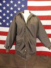 Vintage Pla-Jac by Dunbrooke Coat Faux Fur Lined Jacket Men's Large 44-46 Brown