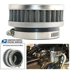 Motorcycle Scooter Stainless Steel Air Intake Filter 48mm-52mm Cleaner+Clamp -US