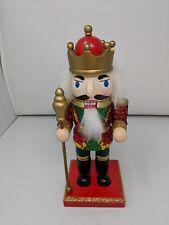 Christmas Wooden Royal King Nutcracker 9 inch - Pre-love
