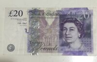 1 BRITISH  £20 POUNDS REAL CURRENCY PERFECT FOR YOUR TRAVEL Or Collection