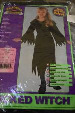 New Rubie's Wicked Witch Child Girl Costume Size Small 4-6 Black Velvet