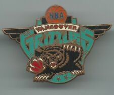 NBA Vancouver Grizzlies Winged Pin Peter David, Inc. 1994 Basketball OOP Used