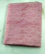 3 YARD INDIAN HANDMADE COTTON FABRIC NATURAL SANGANERI HAND BLOCK PRINT  S_595