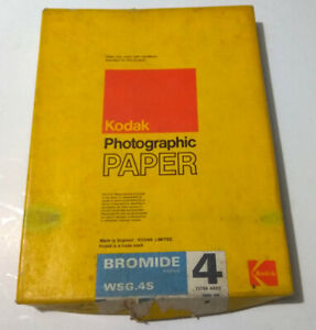 Kodak BROMIDE WSG.4S photographic paper 6 1/2 x 8 1/2 inches (16.5 x 21.6cm)