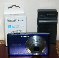 Sony Cyber-shot DSC-W530 14.1MP Digital Camera Bundle, Blue - Excellent