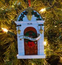 Christmas Front Door - Our First Home Personalized Christmas Tree Ornaments