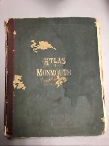 Antique ATLAS OF MONMOUTH CO. NEW JERSEY 1873, Beers, Comstock & Cline, New York