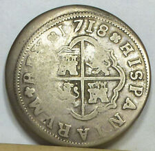 Spain 2 Reales 1718-M Very Good Condition NO RESERVE