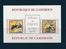 Cameroun  bloc   tableaux  paques    1984  num: BF 21  **