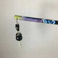 Japanese Kanzashi Nami Wave Hair Stick Ornament Accessory with Black Tone Bead