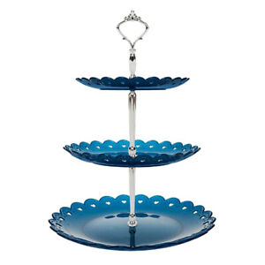 3-Tier Dessert Cake Stand Plastic Pastry Stand Small Cupcake Stand Tray Rack