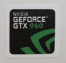 "nVidia GeForce GTX 960 1/""x1/"" Chrome Domed Case Badge Sticker Logo"